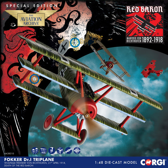 Fokker DR.1 Triplane, Wolfram Freiherr von Richthofen, 21st April 1918, Death of the Red Baron - Special Edition