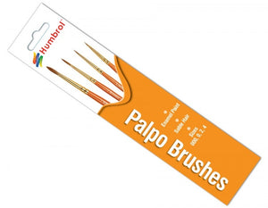Palpo Brush Pack 000  0  2  4 - Chester Model Centre