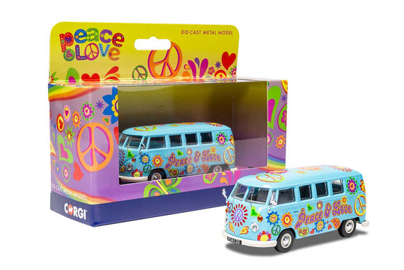 Corgi CC02738 Volkswagen Campervan - Peace Love and Freedom - Chester Model Centre