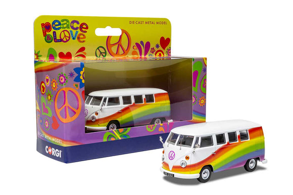 Volkswagen Campervan - Peace Love and Rainbows - Chester Model Centre