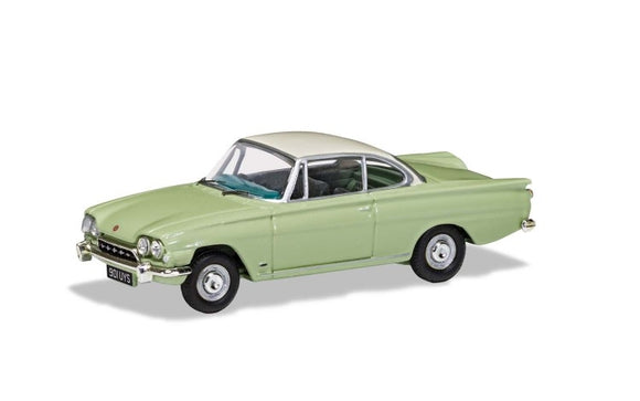 Ford Consul Capri 335 (109E) - Lime Green & Ermine White - Chester Model Centre