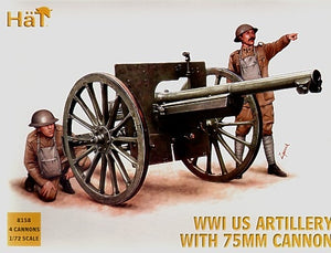 WWI US Artillery with 75mm Cannon - Chester Model Centre