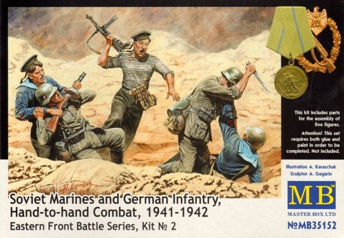 Soviet Marines and German Infantry Hand-to-Hand Combat 1941-1942 Eastern Front - Chester Model Centre