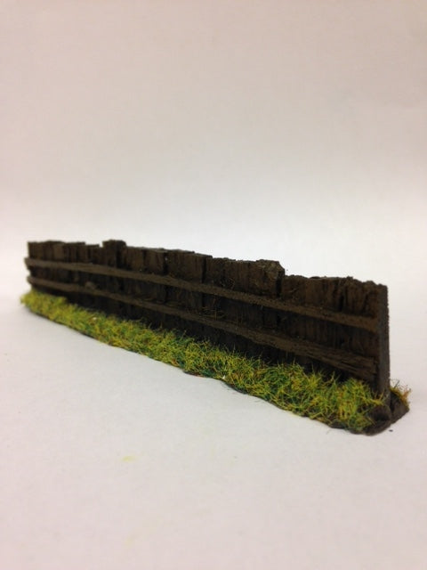 OO Gauge Dark Brown Sleeper Fencing (Bag of 6) - Chester Model Centre