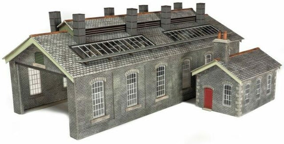 S & C Style Stone Engine Shed Double Track - Chester Model Centre