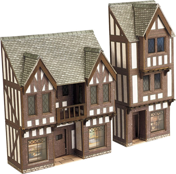 Low Relief Timber Framed Shop Fronts - Chester Model Centre