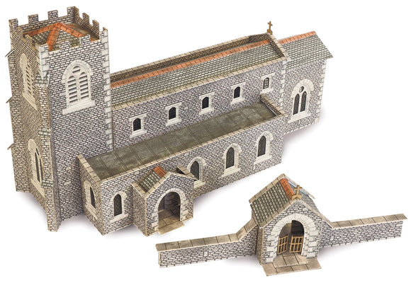 PN926 N Gauge Parish Church - Chester Model Centre
