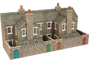 OO Low Relief Terraced House Backs Stone - Chester Model Centre