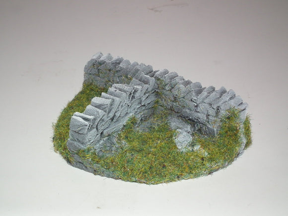 OO Gauge Farm Old Damaged Light Brown Drystone Wall (Bag of 6) - Chester Model Centre