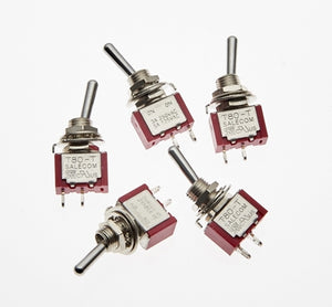 PACK OF 5 ON/OFF SWITCHES - Chester Model Centre