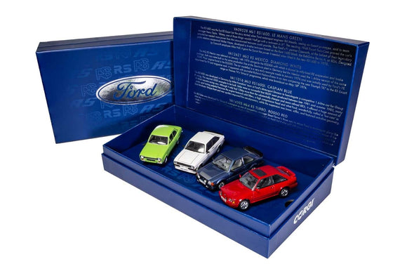 Corgi RS00001 Ford Escort RS Collection, Ford's RS Escorts, Four Decades of Success - Chester Model Centre