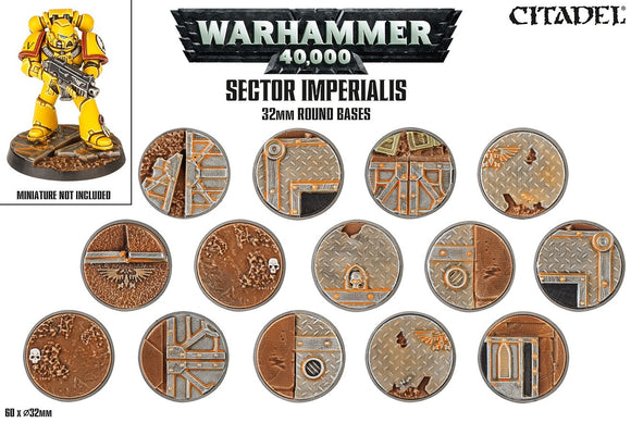SECTOR IMPERIALIS: 32MM ROUND BASES - Chester Model Centre