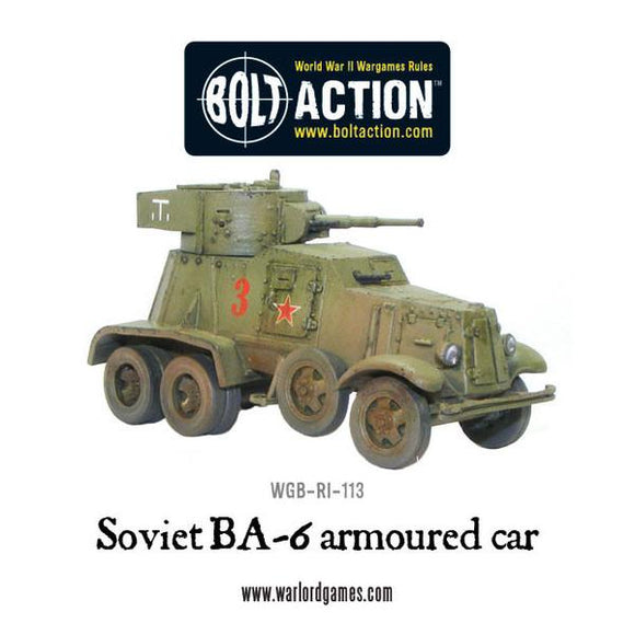 BA-6 Armoured Car WWII Soviet Armoured Car - Chester Model Centre