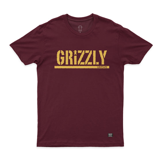 T-SHIRT GRIZZLY STAMPED TEE - GMA1901P14