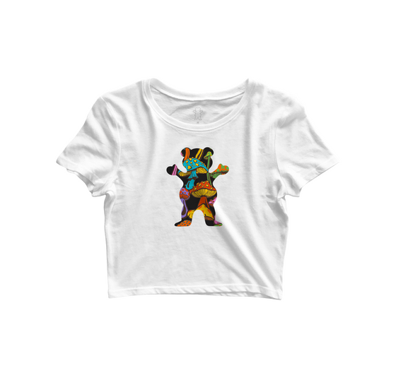 T-SHIRT GRIZZLY FUNGI OG BEAR CROPPED TEE - V21GRC17
