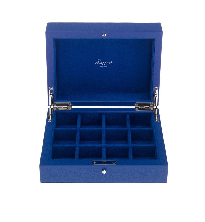 Rapport-Mens-Berkeley Twelve Cufflink Box-Blue