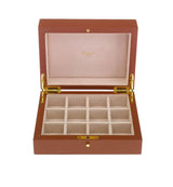 Rapport-Mens-Berkeley Twelve Cufflink Box-Tan