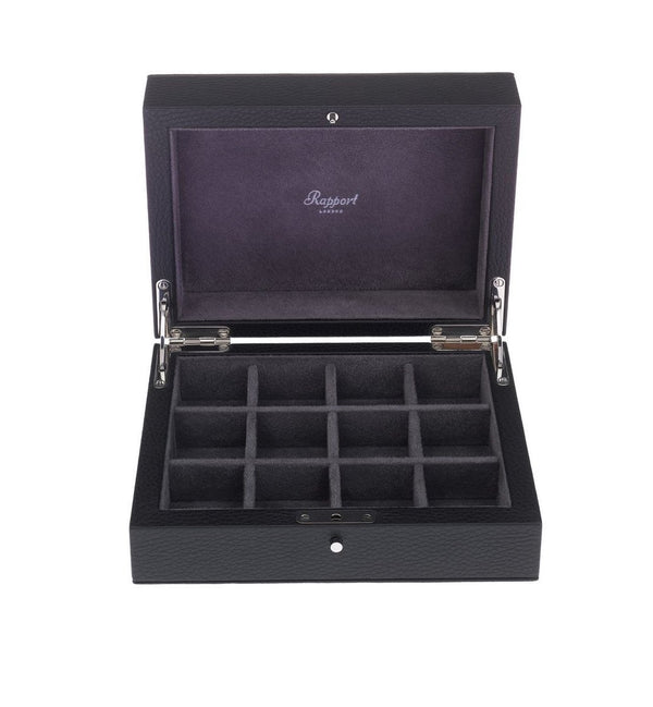 Rapport-Mens-Berkeley Twelve Cufflink Box-Black