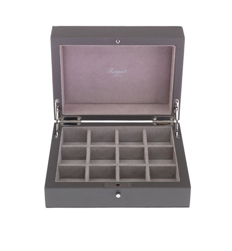 Berkeley Twelve Grey Cufflink Box