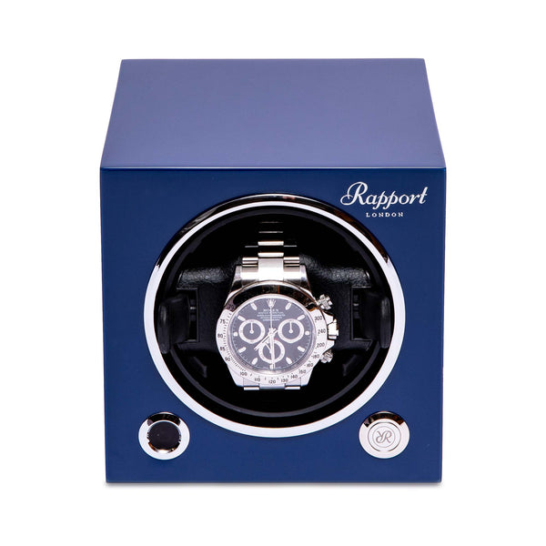 Rapport-Watch Winder-Evo Single Watch Winder-Admiral Blue