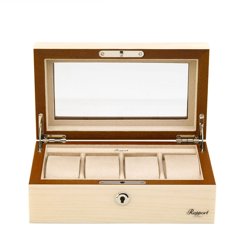 Rapport-Watch Box-Optic Four Watch Box-White