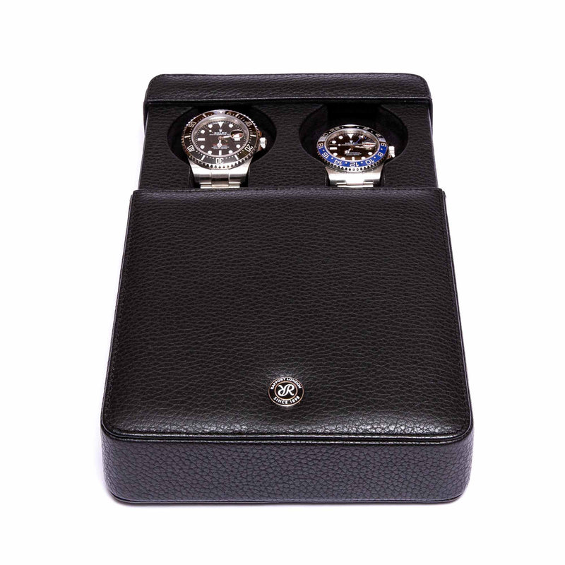 Rapport-Watch Accessories-Berkeley Double Watch Slipcase-Black