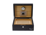 Rapport-Mens-Brompton Small Leather Humidor-Black