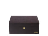 Rapport-Mens-Brompton Large Leather Humidor-Brown