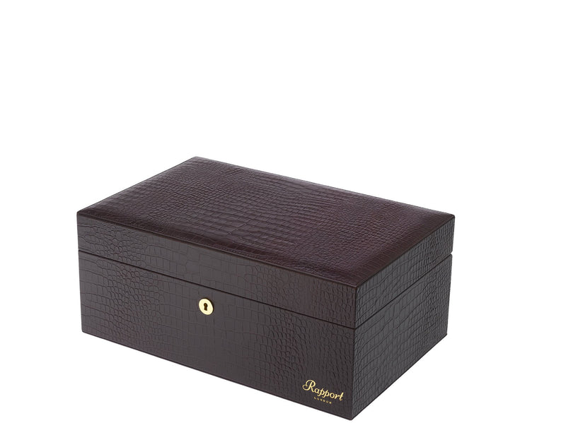Rapport-Mens-Brompton Large Leather Humidor-