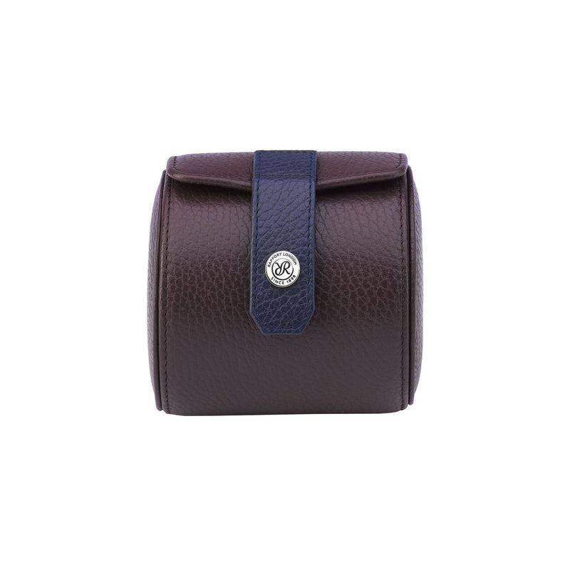 Rapport-Watch Accessories-Cooper Single Watch Roll-Brown and Blue