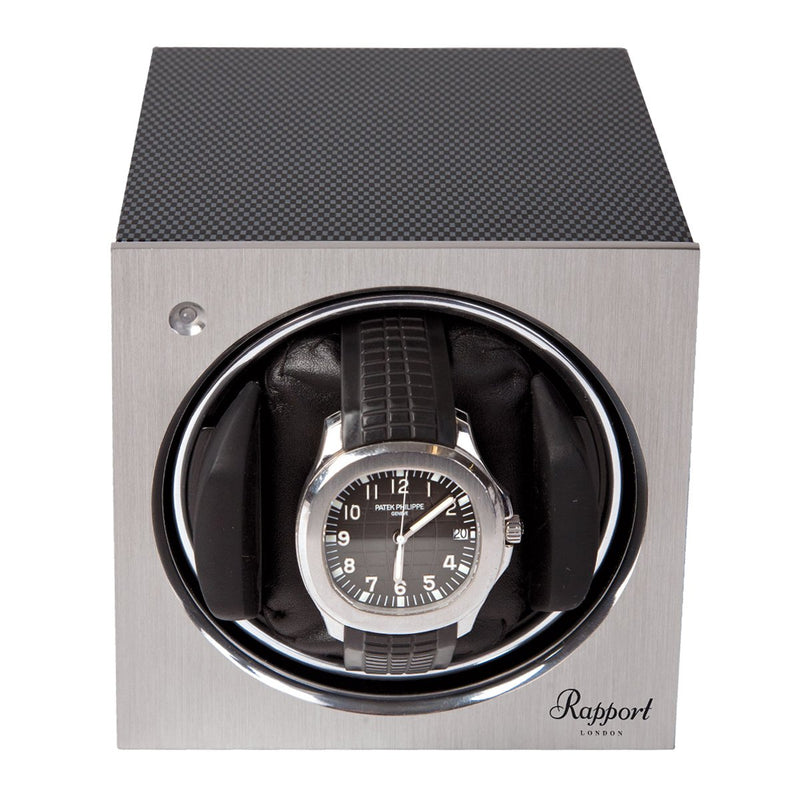 Rapport-Watch Winder-Tetra Mono Watch Winder-Carbon Fibre
