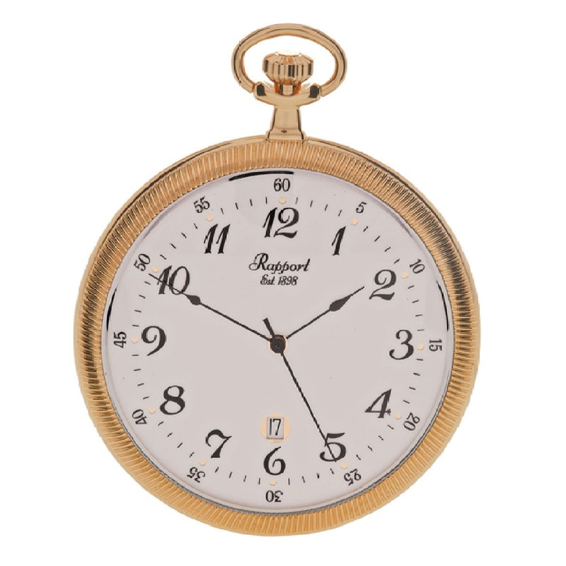 Rapport-Watch Accessories-Slim Open Face Pocket Watch-Gold