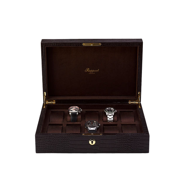 Rapport-Watch Box-Brompton Ten Watch Box-Brown