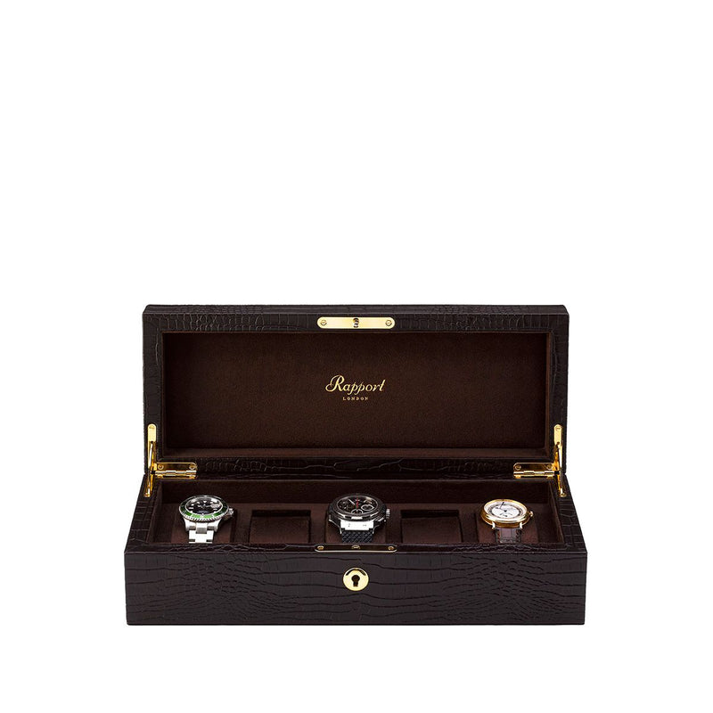 Rapport-Watch Box-Brompton Five Watch Box-Brown