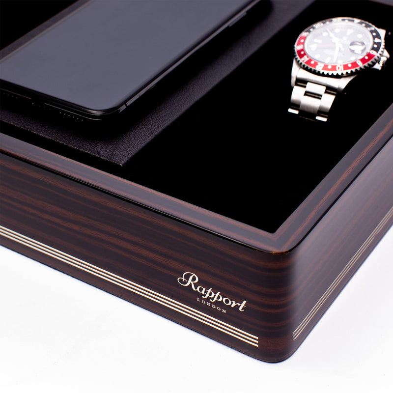 Rapport-Watch Accessories-Wireless Charging Tray Macassar-