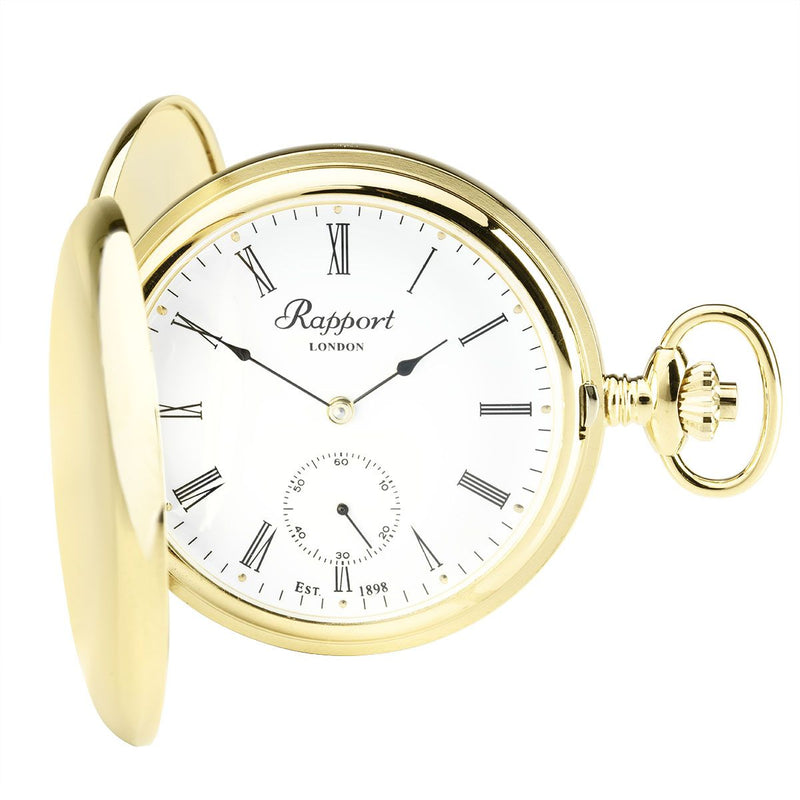 Rapport-Watch Accessories-Mechanical Double Hunter Pocket Watch-Gold