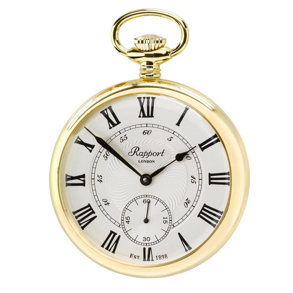Rapport-Watch Accessories-Mechanical Open Face Pocket Watch-Gold