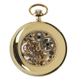 Rapport-Watch Accessories-Open Face Gold Plated Pocket Watch-