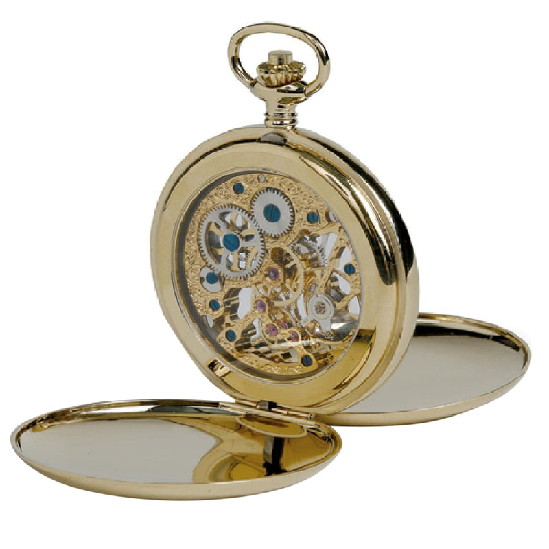 Double Hunter Pocket Watch Gold Plated