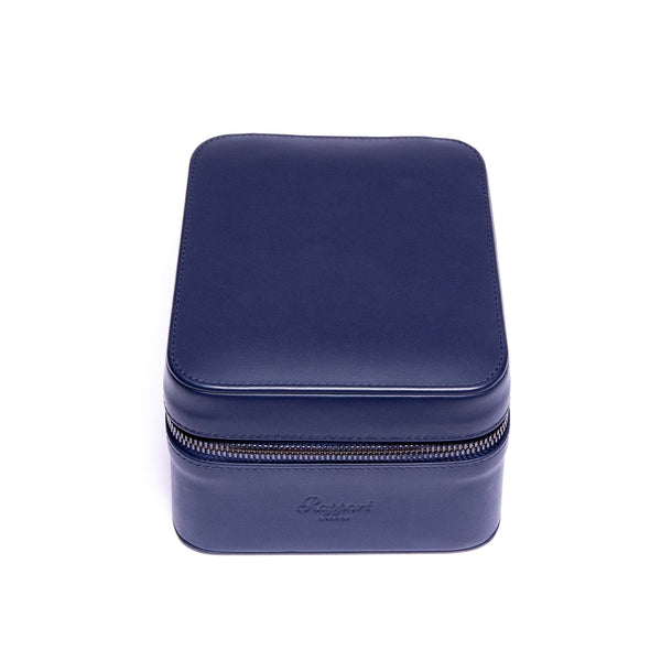 Rapport-Watch Accessories-Hyde Park Two Watch Zip Case-Navy