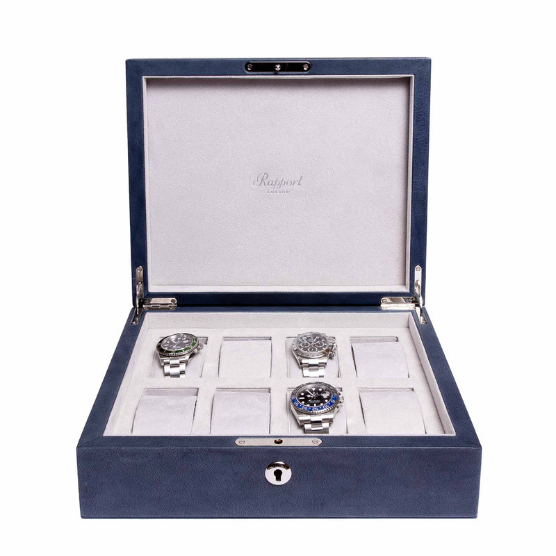Rapport-Watch Box-Vintage Eight Watch Box-Blue