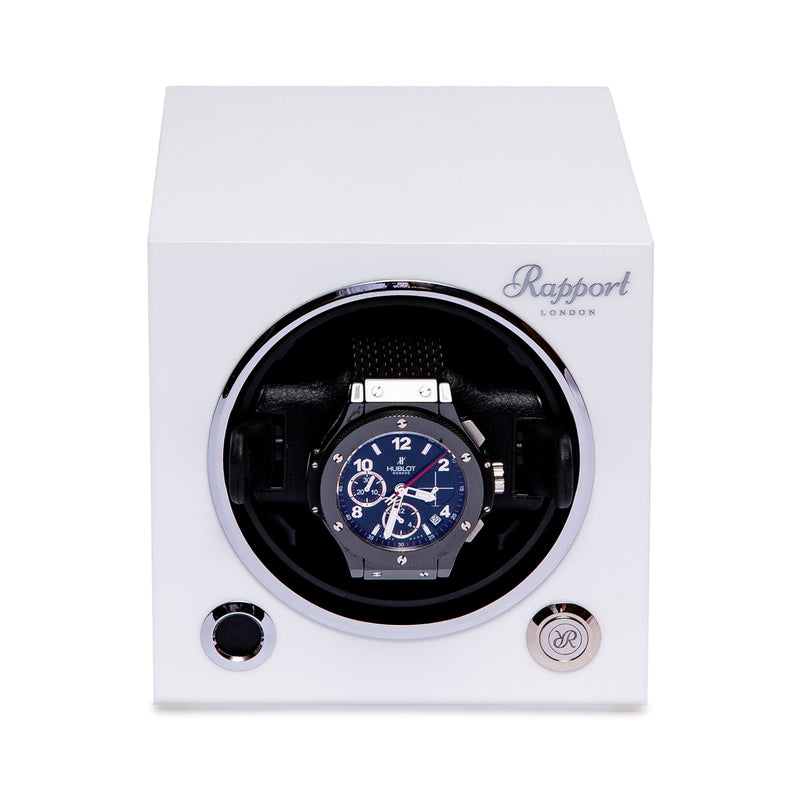 Rapport-Watch Winder-Evo Single Watch Winder-Polar White