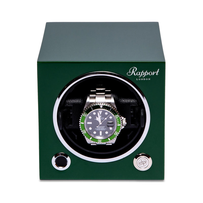 Rapport-Watch Winder-Evo Single Watch Winder-Racing Green