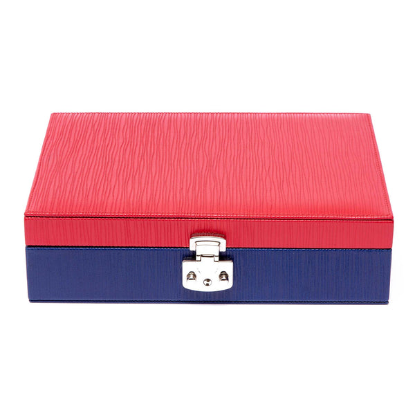 Rapport-Ladies-Red and Blue Jewellery Box-