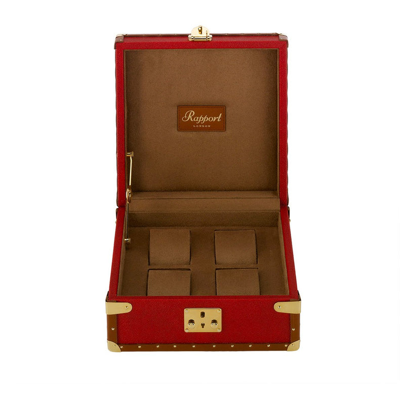 Rapport-Watch Box-Berkeley Four Watch Box-Red