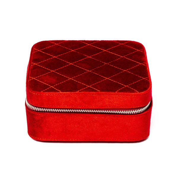 Rapport-Ladies-Marilyn Velvet Jewellery Case-Red