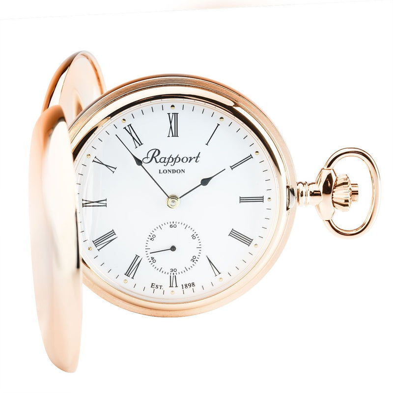 Rapport-Watch Accessories-Mechanical Double Hunter Pocket Watch-Rose Gold