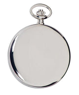 Quartz Full Hunter Silver Tone Pocket Watch with Silver Dial