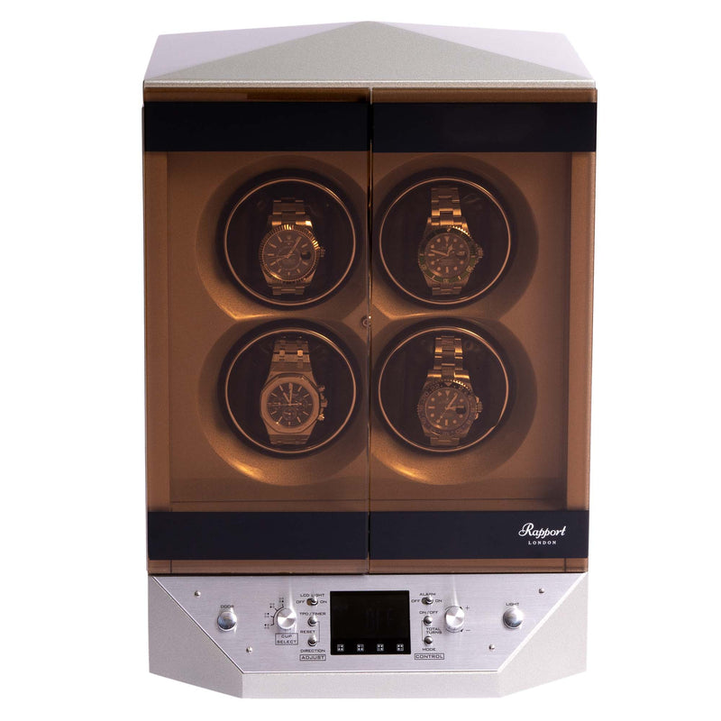 Rapport-Watch Winder-Templa Watch Winder-Silver