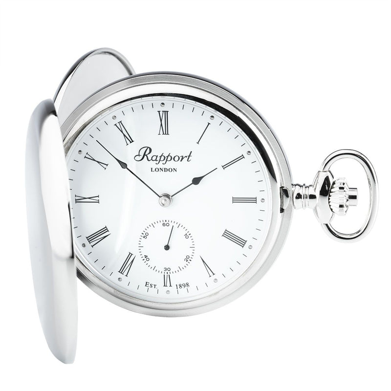 Rapport-Watch Accessories-Mechanical Double Hunter Pocket Watch-Silver